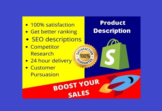 SEO Friendly Persuasive Product Description Writing