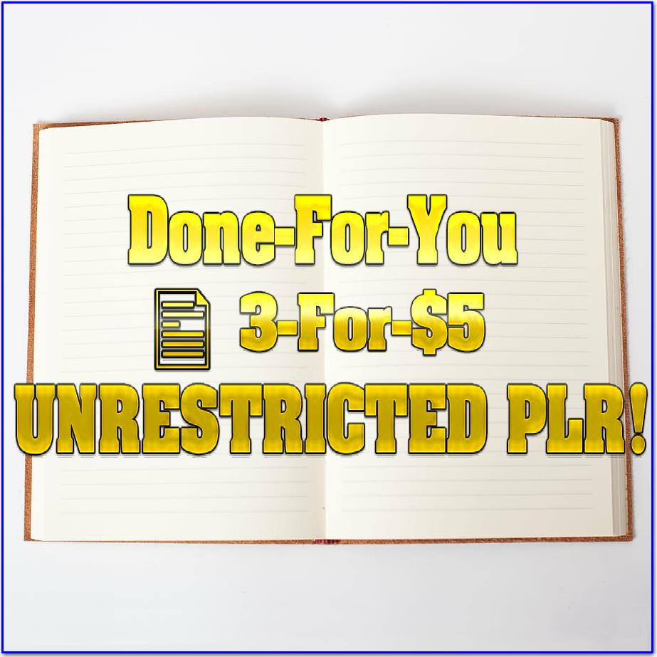 3 ORIGINAL Articles (UNRESTRICTED PLR)