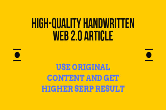 500 Words Hand-Written Content for First Tire Web 2.0 Backlinks