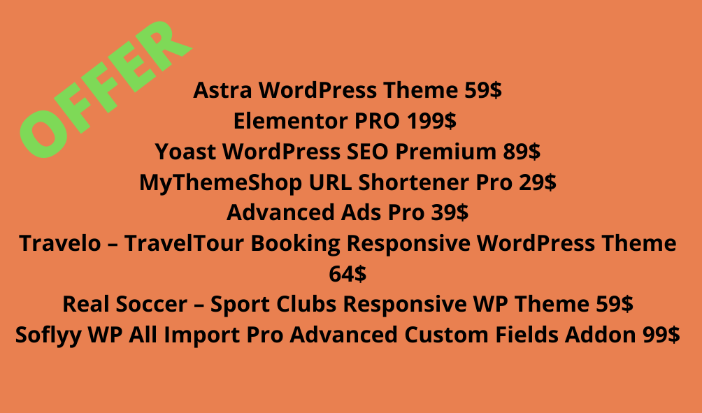 Wordpress combo Elementor and other product