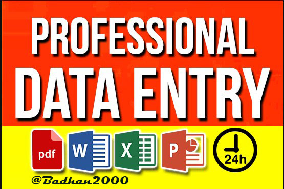data convert and copy typing and all type of data entry