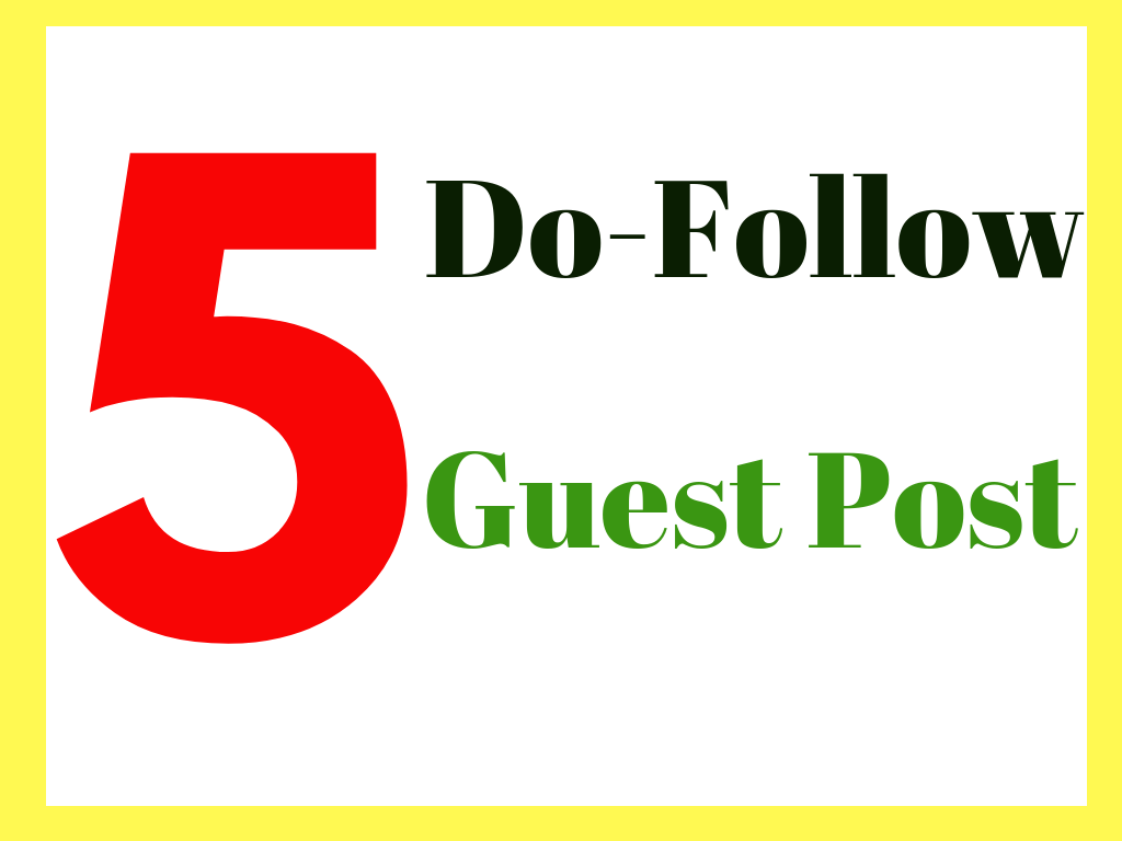 do 5 guest posts on high authority websites