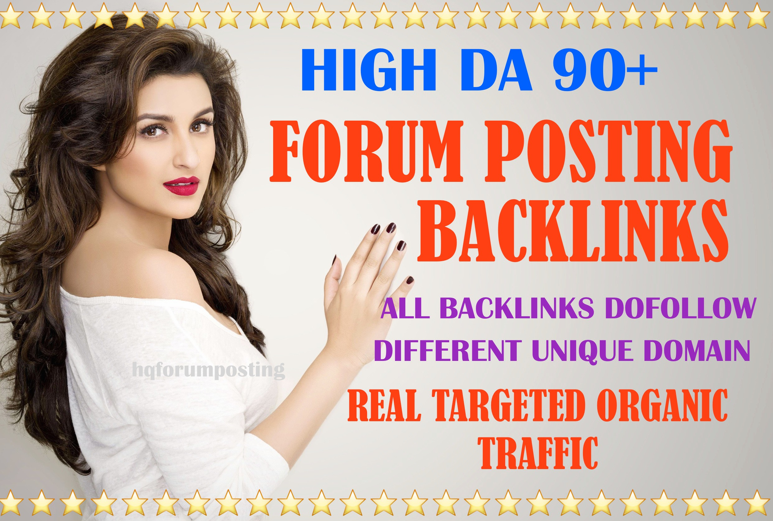 I will do high authority 150 unique domain forum posting backlinks