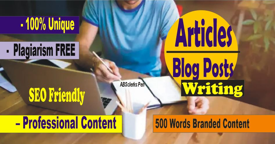500+ words - SEO friendly ARTICLE,  BLOG POST or WEBSITE Content writing