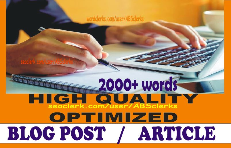 2000+ Quality Content / Article / Blog post writing- Professional