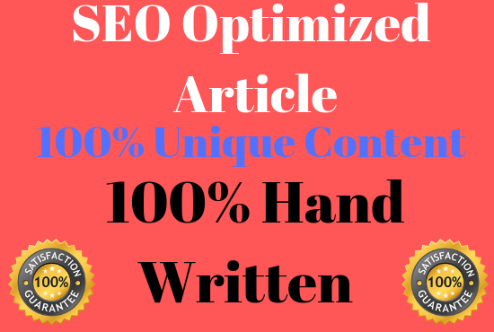 2 X 1000 Words SEO optimised well researched article