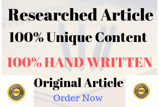 1000 Words SEO optimised well researched article