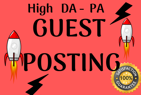 Write And Publish 10 High DA 99 Unique Guest Post