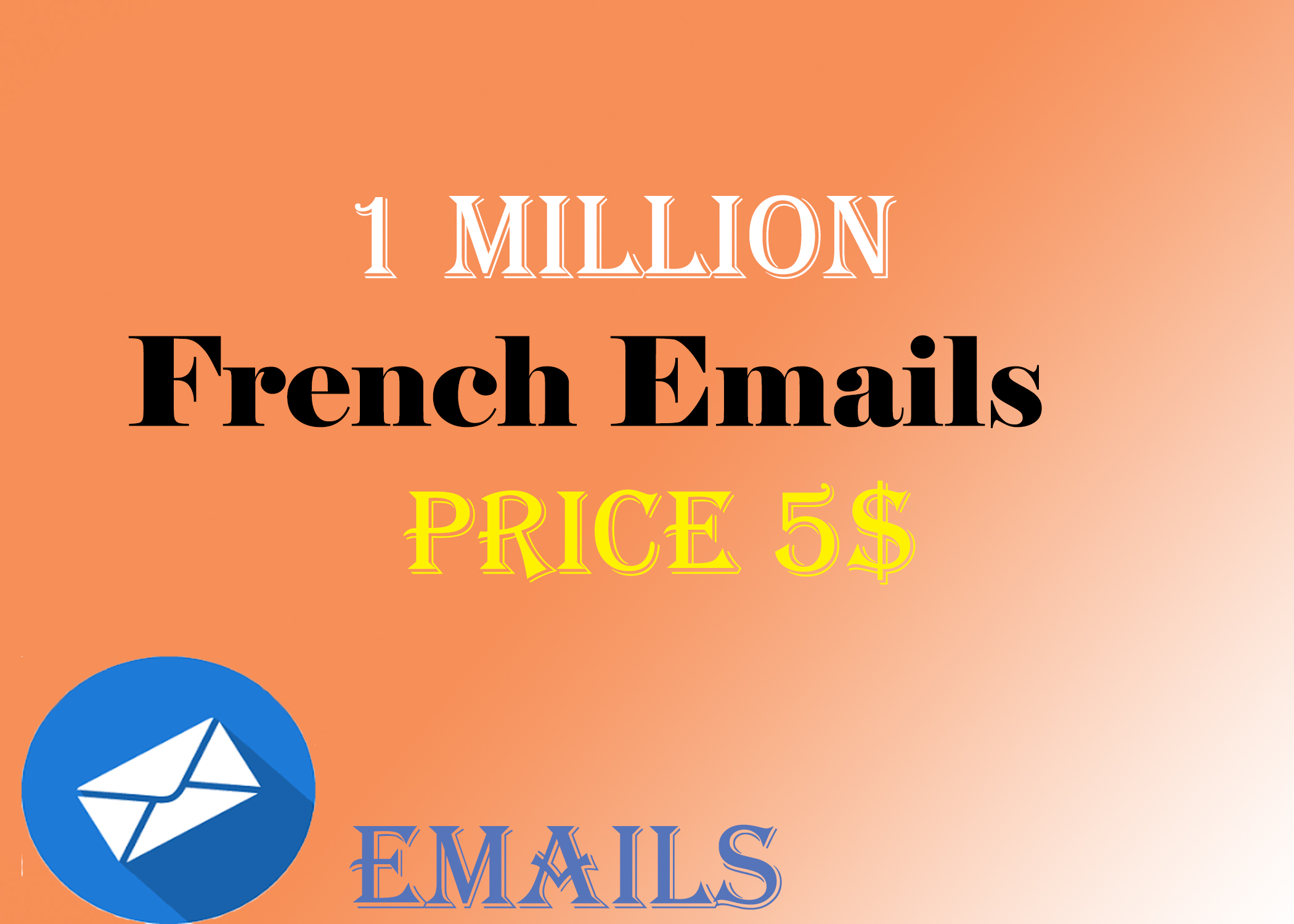 1 million French Email list in very low price