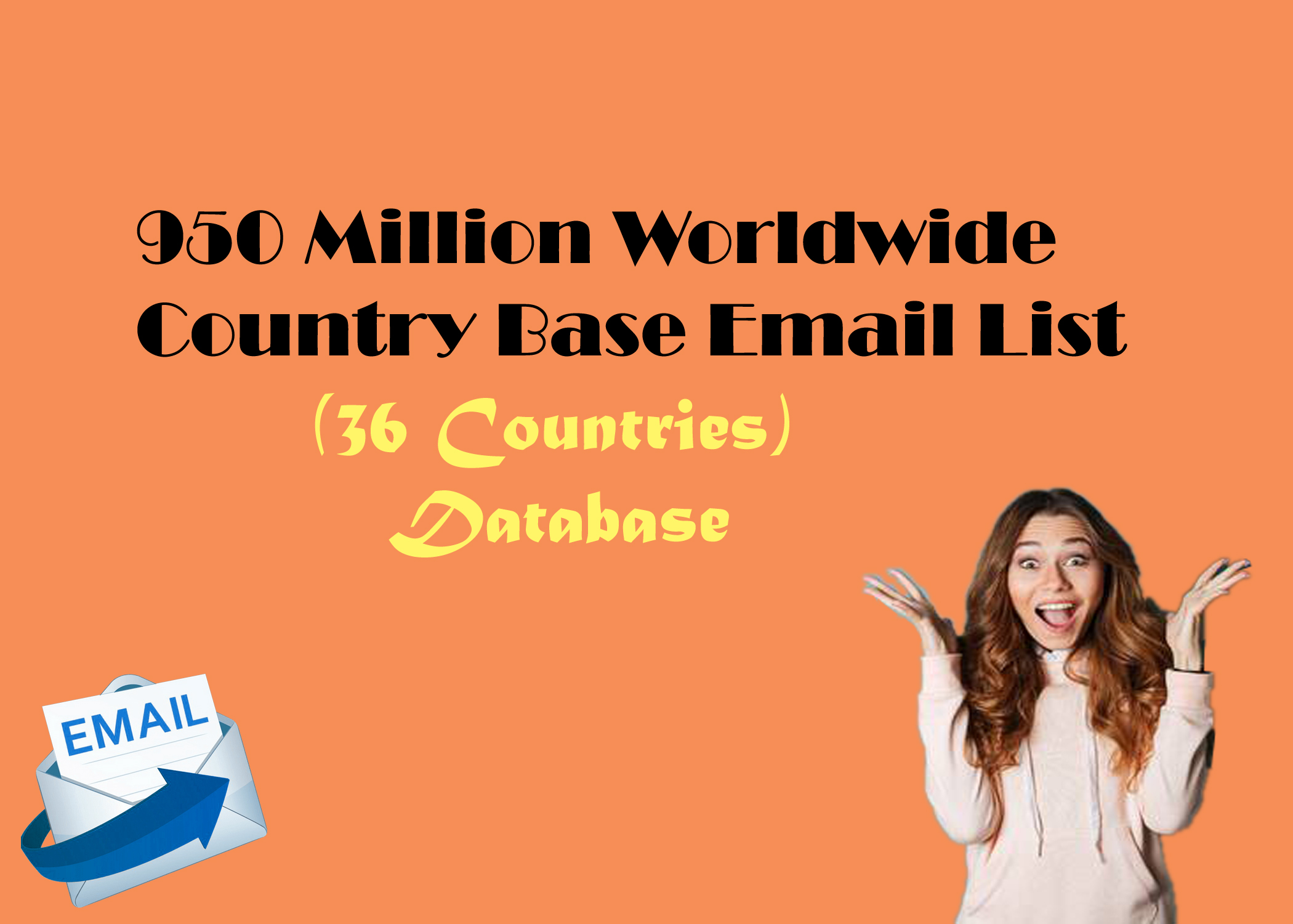 950 million email list in very low price