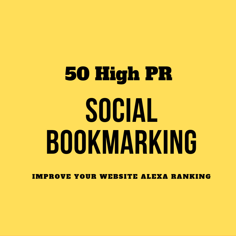 50 High Pr Social Bookmarking Links Improve your Webise Alexa and Google Ranking