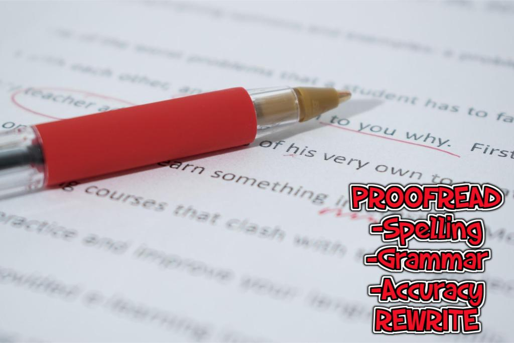 Proofread,  Edit and Rewrite 800-Word Content In Any Platform