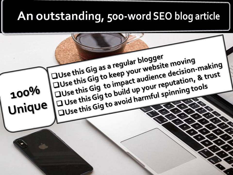 500-word outstanding SEO blog article on any niche