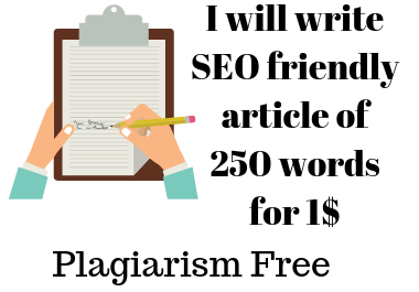 SEO friendly well researched article of 250 words