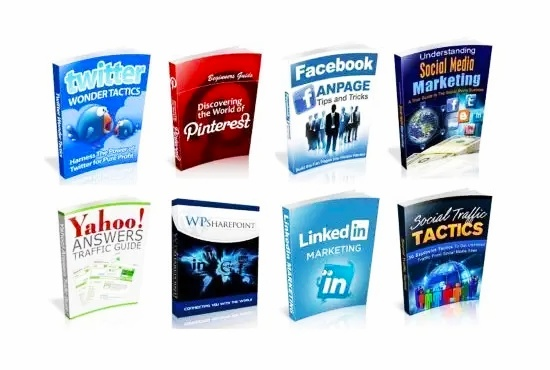 100 eBooks About Social Media With Resale Rights