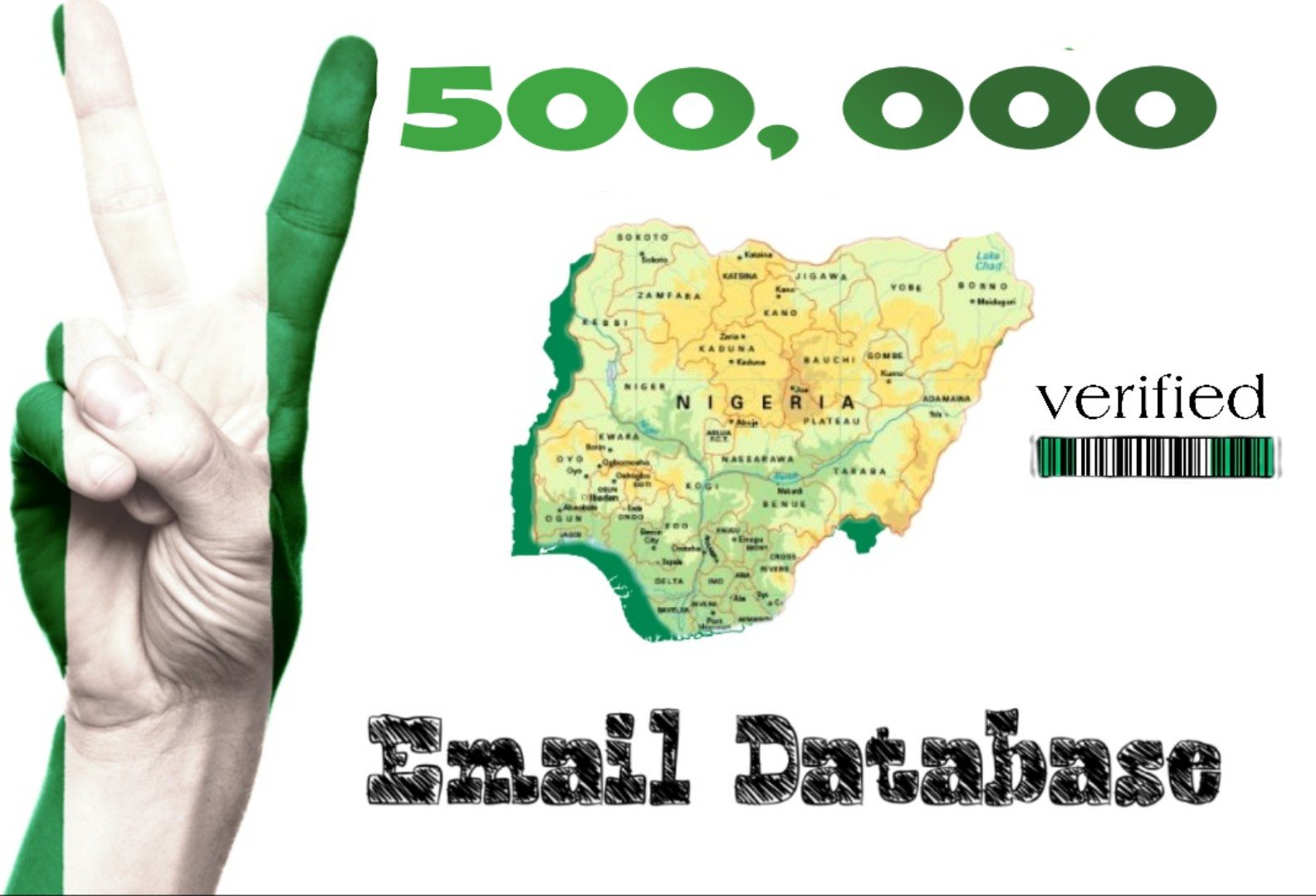 500k verified Nigerian emails for marketing