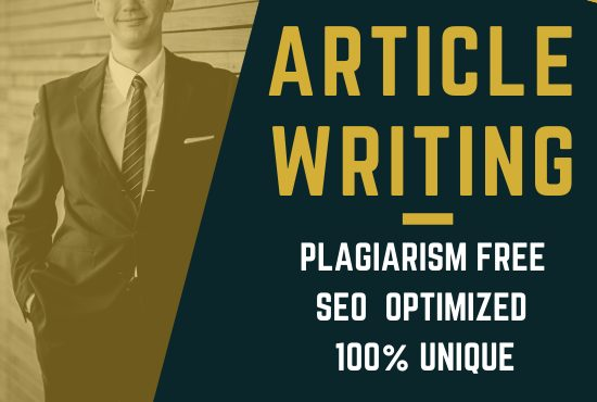 I Will Write SEO Friendly Article For Your Website Blog or Magazine