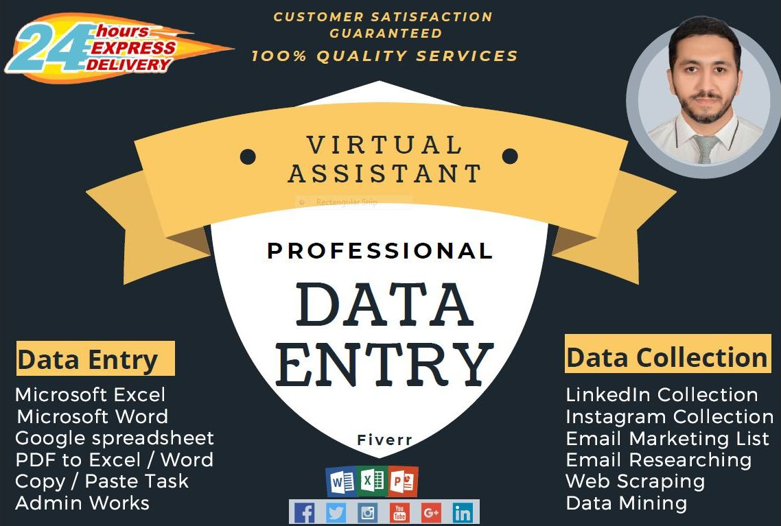 I will do data entry,  data mining,  data collection
