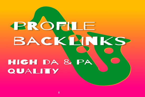 I will create manual 30 social networks profiles SEO high backlinks