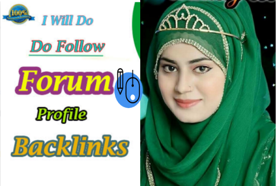 I will build 100 dofollow forum profile backlinks for you