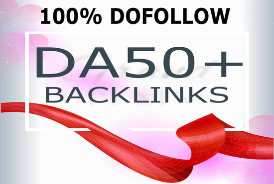 I will make high 10 DR 50 authority backlinks dofollow