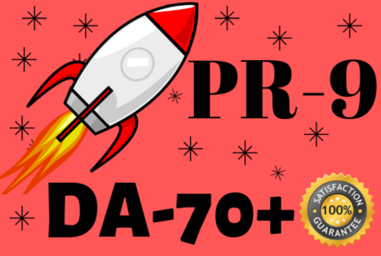 I will double your google rank with pr9 da70 seo dofollow 10 backlinks