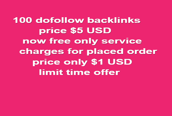 I will build 100 dofollow backlinks seo white hat