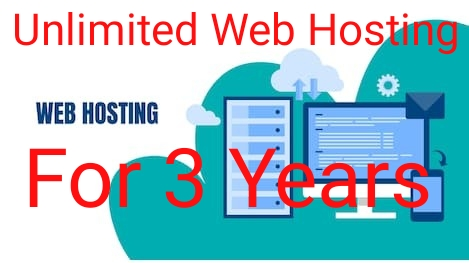 Unlimited Hosting Plan For Three Years
