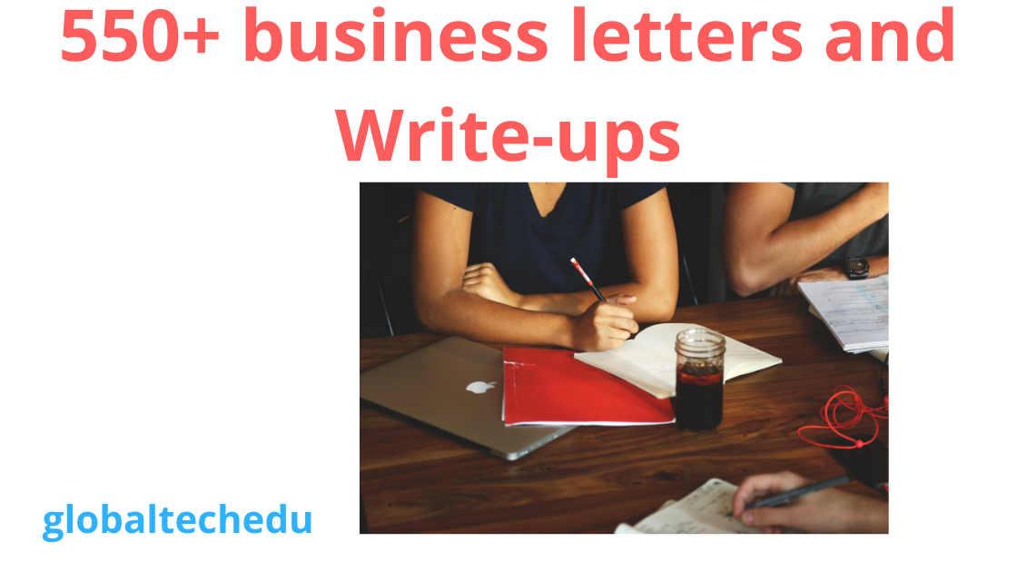 550+ Business Letters and Write-Ups