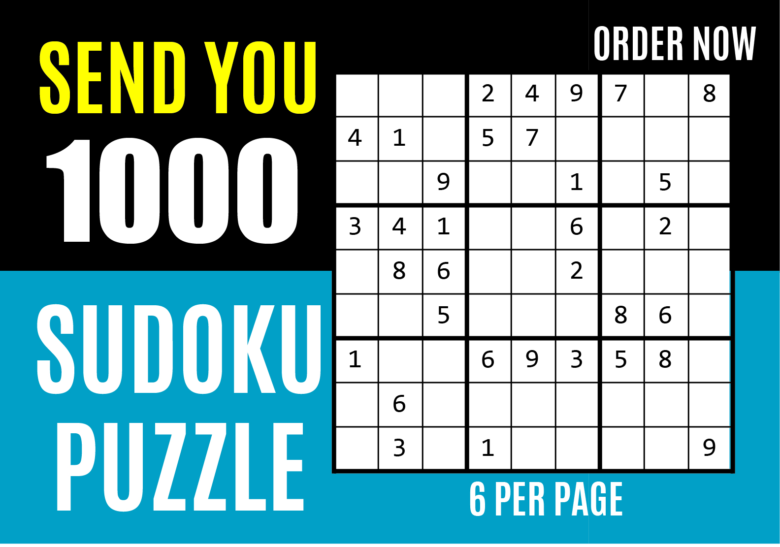 I will send you 1000 sudoku puzzles with solution for Amazon kdp