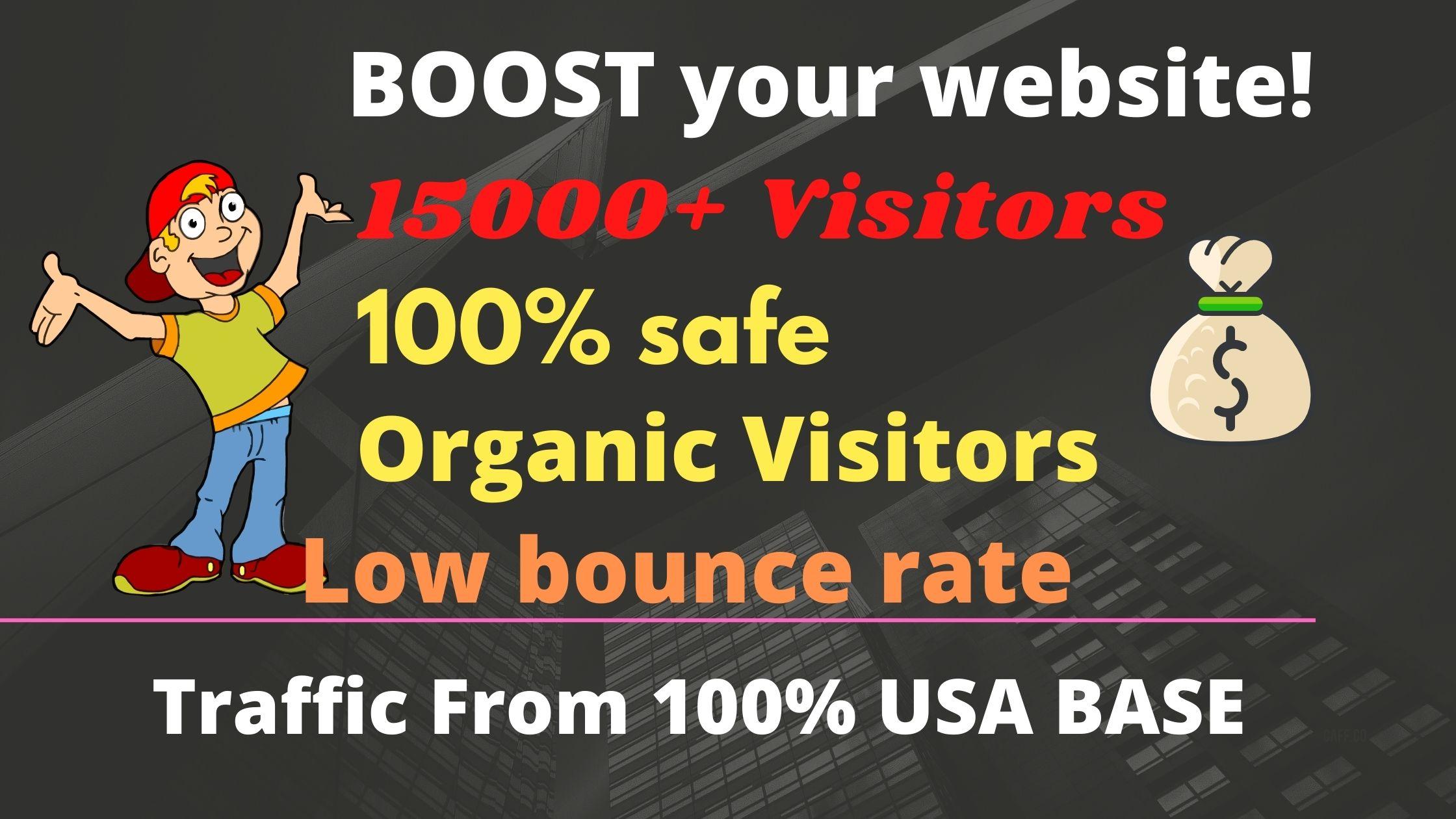 15000plus drive keyword targeted USA organic web traffic
