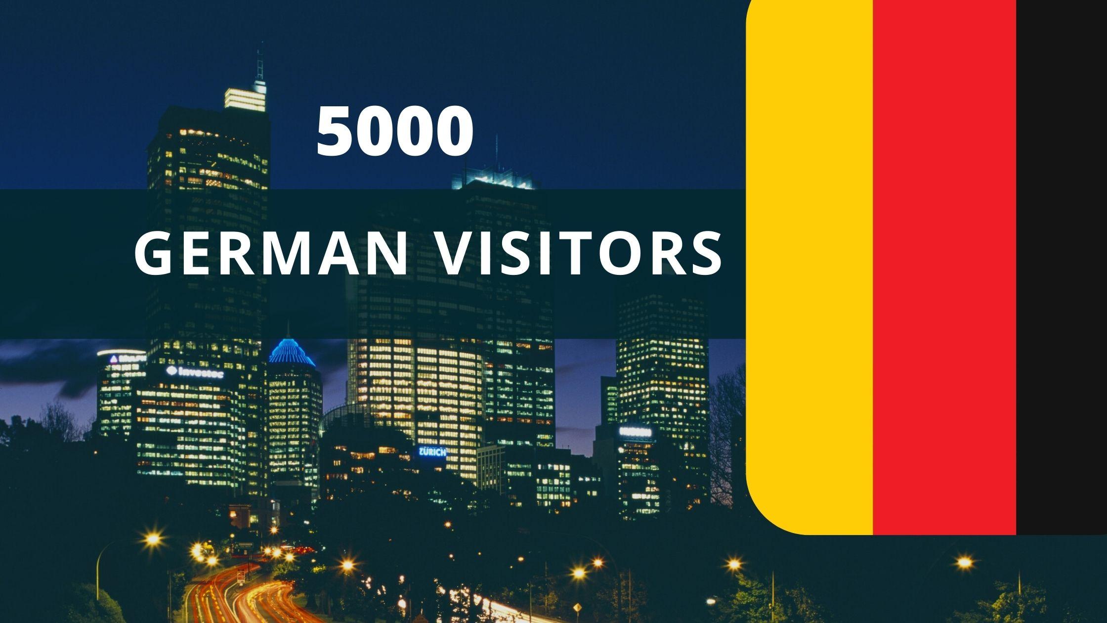 5000 German visitors for your website or blog