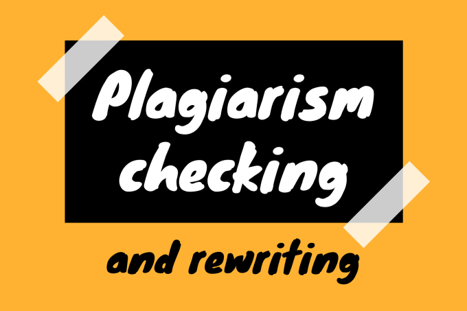I will do a plagiarism check and rewrite articles