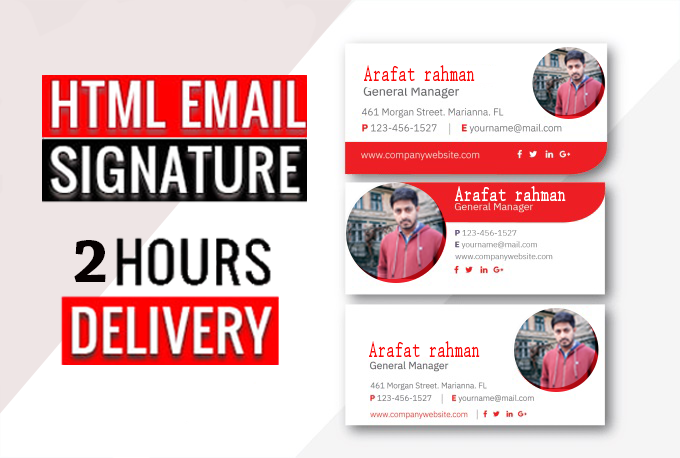 i will make html Clickable email signature or email signature