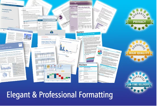 I will format,  design and edit ms word and PDF documents