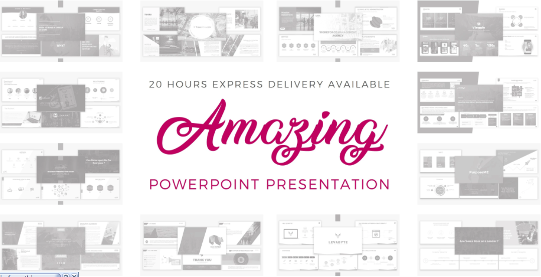 I will design an amazing business powerpoint presentation