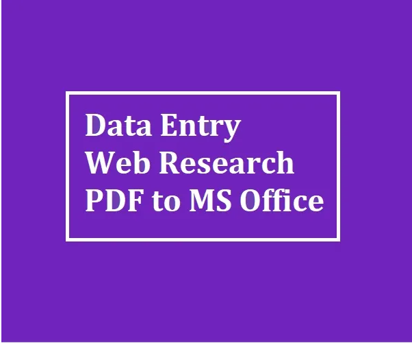I will do data entry, excel, googlesheets,  spreadsheet,  PDF to excel