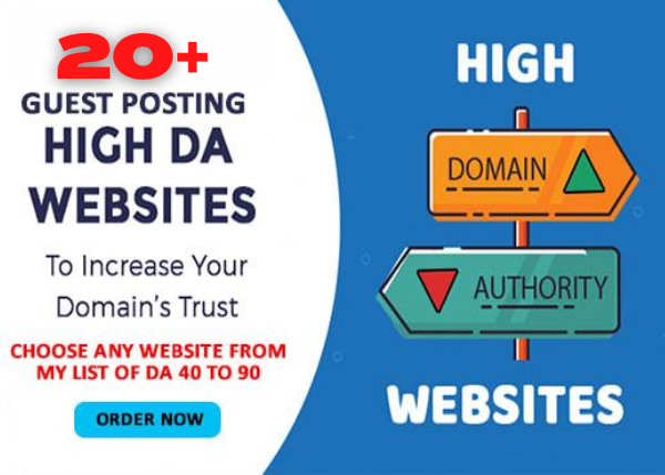 I Will do 20 High DA Guest Post on Authority Blogs DA 95 to 40 in 24 Hours