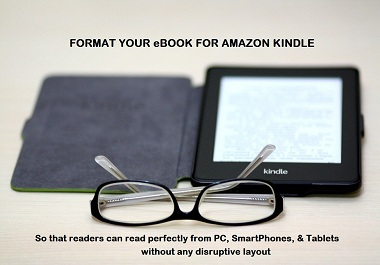I Will Format Your Book for Amazon Kindle eBook Up To 5000 Words