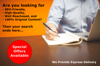 I Will create High Quality Content Writing about 200-250 Words any niche