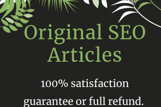 I will do high quality 1ooo + Unique SEO article writing,  blog writing and website content