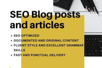 I will write you a 2500 word blog post with SEO