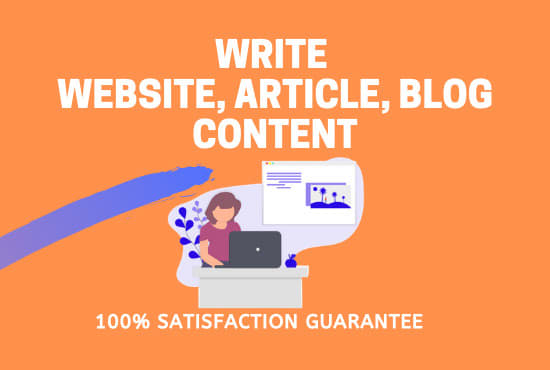 I will write blogs articles or content