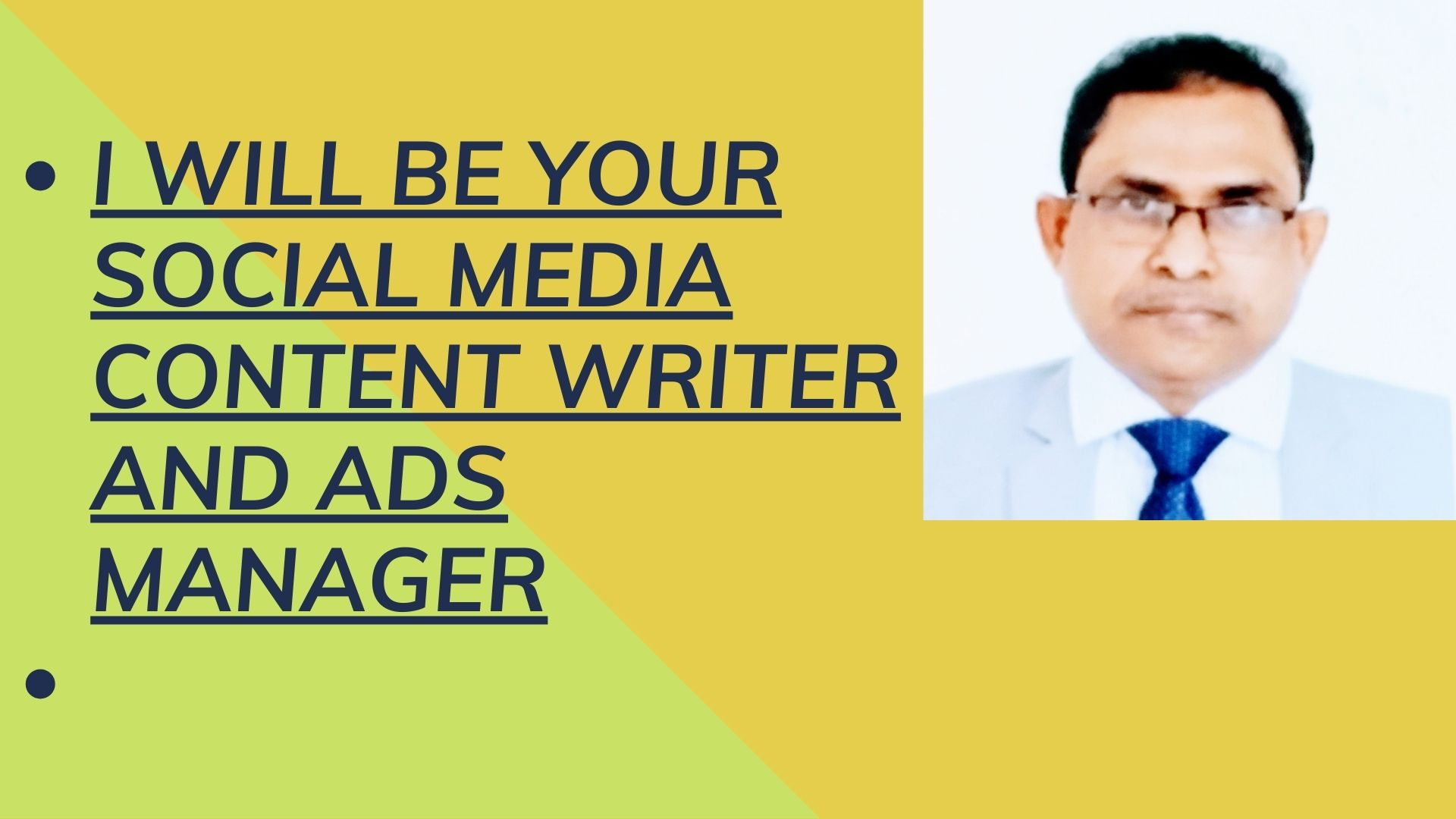 I will be Your Social Media Content writer and Ads Manager