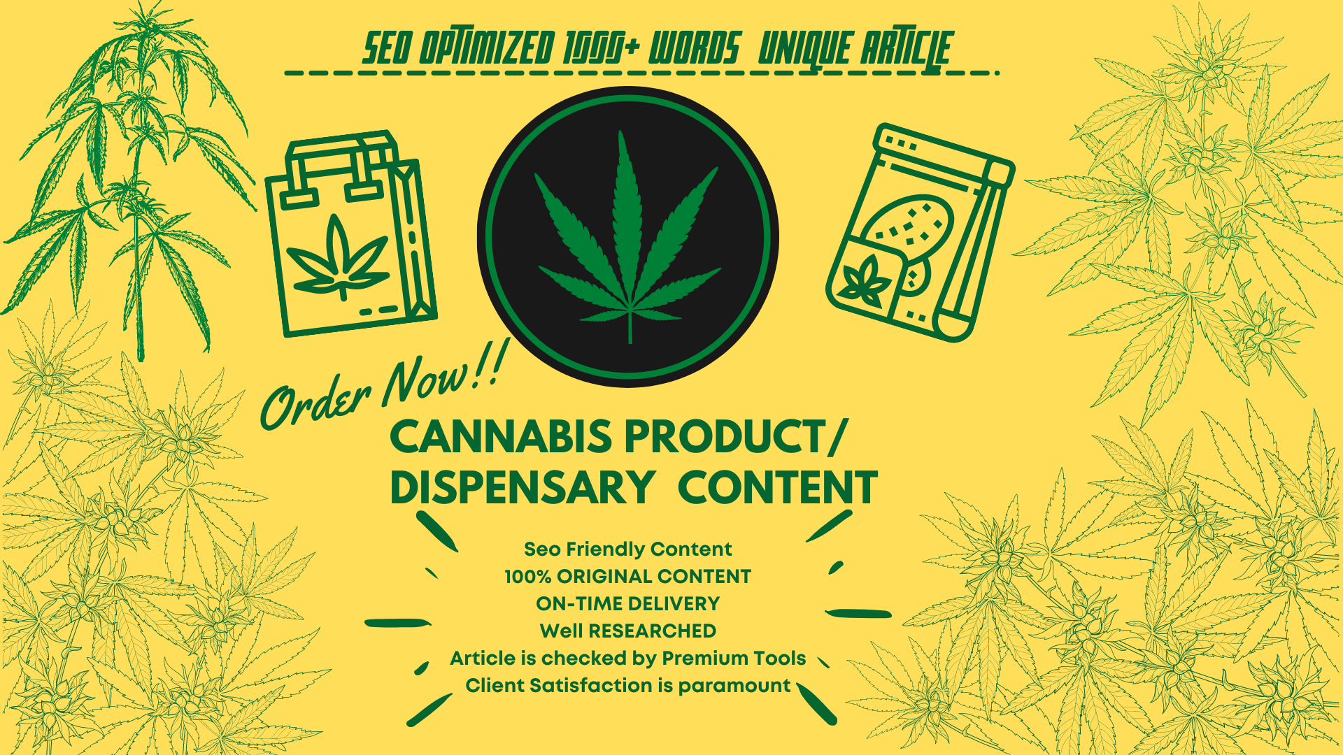 I will write 1000+ words SEO article for your Cannabis blog post