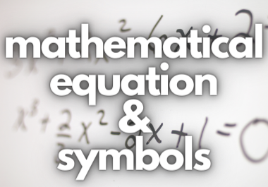 I will add mathematical eqautions and symbols on word & ppt
