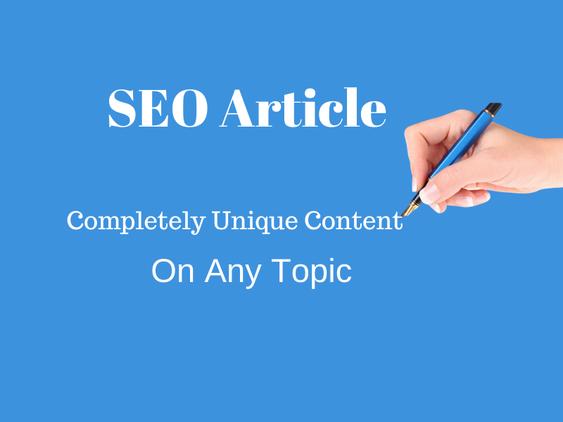 I will write 1000 words SEO optimized article for your blog on any niche