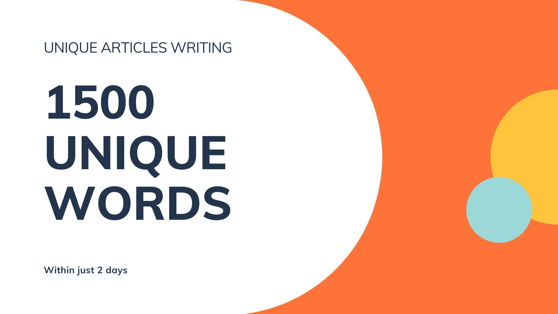 I will Write Top Class Unique 1500 Words Articles and Content