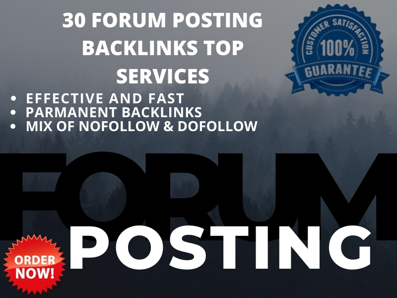 I will create high quality 30 forum posting backlink with high DA & PA sites