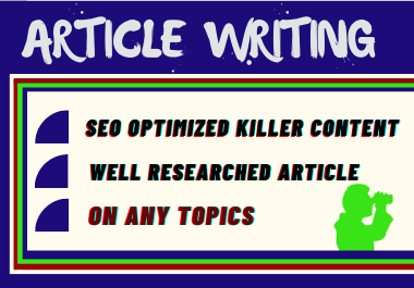 I will write unique SEO articles on any topic
